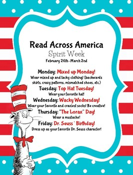Read Across America/Dr. Seuss Day 2018