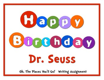 Read Across America Dr. Seuss Inspired Essay Writing Activity