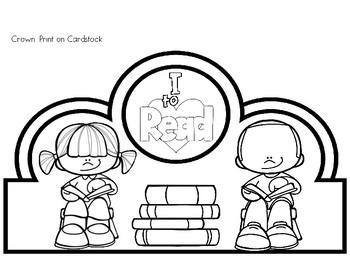Read Across America/Dr. Seuss/Reading Crown