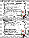 Read Across America / Dr. Seuss Week Flier