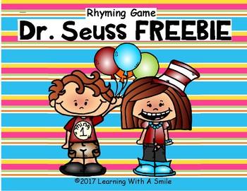 Read Across America FREE Rhyming Game DR. SEUSS