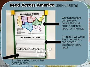 Read Across America Genre Reading Challenge Freebie