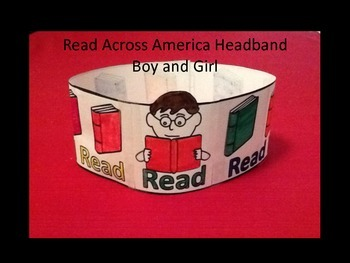 Read Across America Hat - Boy and Girl Pattern