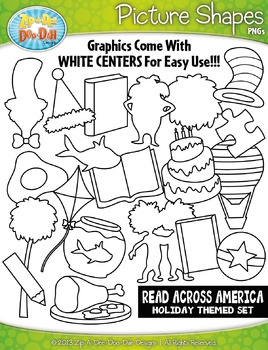 Wacky & Whimsy Reading Picture Shapes Clipart Set — Includes 20 Graphics!