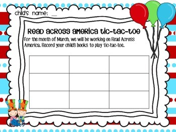Read Across America Literacy and Math Activities