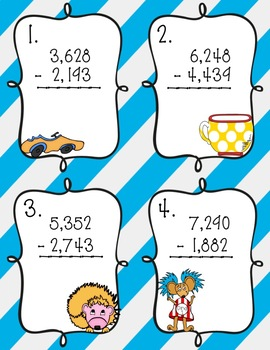 Read Across America Math Bundle: Addition, Subtraction, and Multiplication