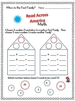 Read Across America Activities Math Review Pages