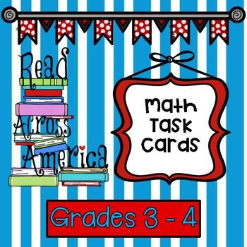 Dr. Seuss Inspired Read Across America Math Task Cards Grade 3