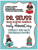 Read Across America Math and Literacy Centers and Acitivities