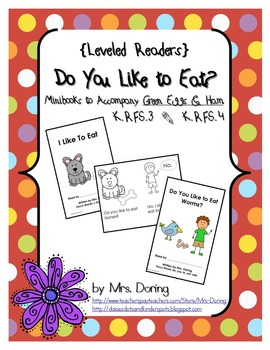 Read Across America Minibooks ENGLISH {Leveled Readers}
