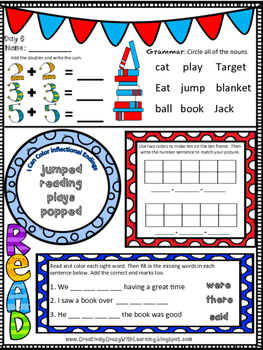 Reading Week NO-PREP Work Packet for K-3rd Freebies in Preview