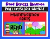 Read Across America Multiplication Pixel Mystery BUNDLE