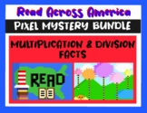 Read Across America Multiplication and Division Pixel Mystery BUNDLE