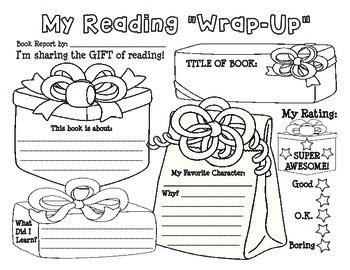 "Christmas / Holiday ""My Reading Wrap-up"" Book Report / Reading Log"