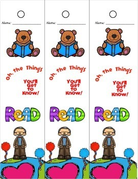 Read Across America Poster and Bookmarks