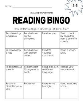 Read Across America: Reading Bingo Homework