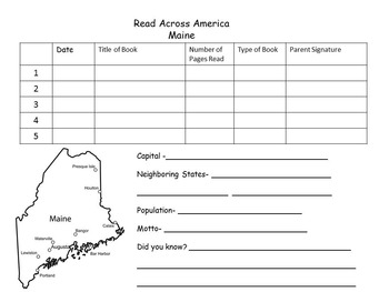 Read Across America Reading Log