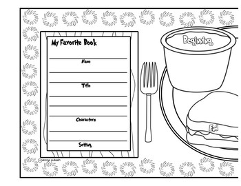 Read Across America Story Placemat