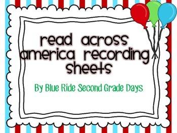 Read Across America Student Tic-Tac-Toe Book Logs, Recordi