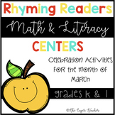 Rhyming Readers Literacy and Math Centers