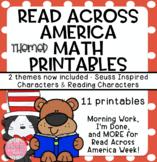 Read Across America Week - MATH Printables!