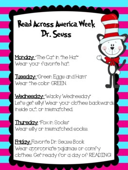 Read Across America Week Note