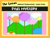 Earth Day -The Lorax Addition & Subtraction DIGITAL Pixel Art Mystery