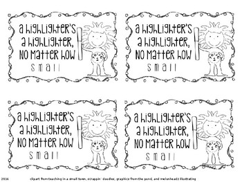 Read Across America Week Treat Tags EDITABLE