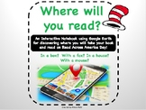 Read Across America:  Where Would You Read?  Fun with Dr.