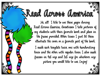 Read Across America Writing