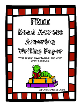 FREE Read Across America Writing Paper