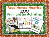 ZOO Literacy and Math Fun Pack + BONUS Bookmarks! Read Across America