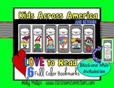 Kids Across America Love to Read  Bookmarks