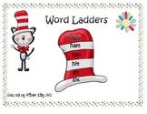 Read Across America week word ladders