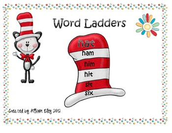 Read Across America week word ladders