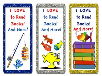 FISH Literacy and Math Activity Fun Pack + BONUS Bookmarks! Read Across America