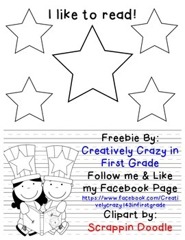 Reading Week- I Like to Read Writing Freebie!