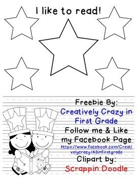 Reading Week- I Like to Read Writing Freebie!