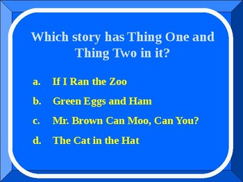 Read Across American Game: Do You Know Your Seuss?