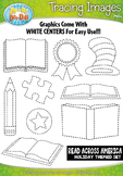 Wacky & Whimsy Reading Tracing Image Clipart Set — Includes 10 Graphics!