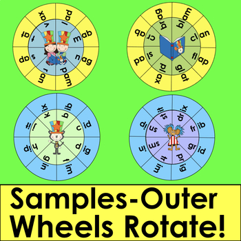 Read WORDS Across America Day Blending Build A Word Wheels - Make Up To 63 Sets