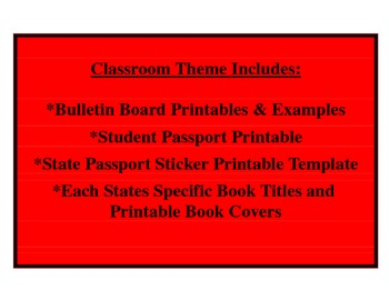 Read Across United States - Travel Classroom Theme