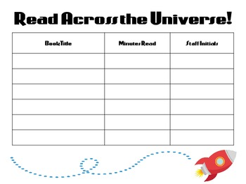 Read Across the Universe Summer Reading Log