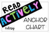 Read Actively Anchor Chart FREEBIE