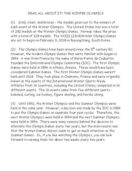 Read All About It!  The Winter Olympics