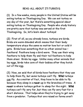 Read All About It!  Turkeys
