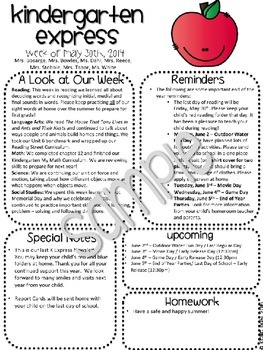 Read All About It! {editable} Classroom Newsletters