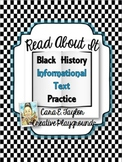 Read All About It~Informational Text for Black History Month