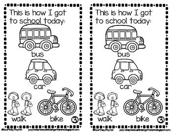 Read All About My First Day! - Kindergarten & First Grade & Pre-K & Preschool