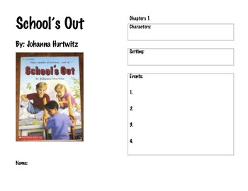 "Read Along guide for ""School's Out,"" by Johanna Hurwitz"